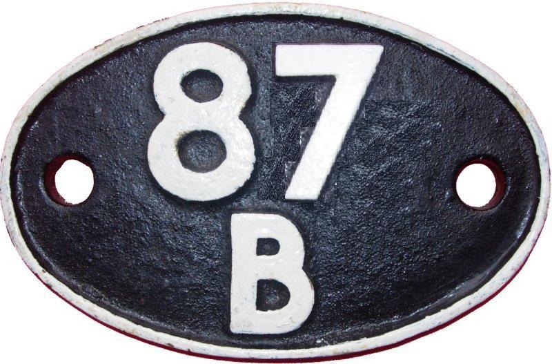 Duffryn Yard Shedplate 87B