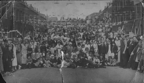 Brooksby Street in 1935: the Silver Jubilee street party